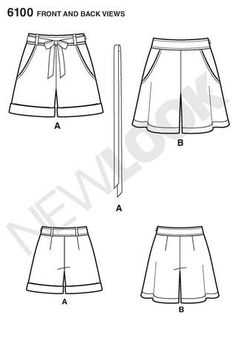 simplicity 6100 shorts pattern