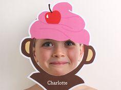 IJsjes-apen-masker die je kan personaliseren en downloaden, geweldig leuk!    © tinyme