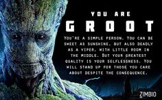 I took Zimbio's 'Guardians of the Galaxy' quiz and I'm Groot! Who are you?