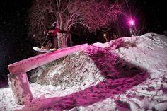 Sensational use of light.. from Transworld Snowboarding Ultimate Jib contest.