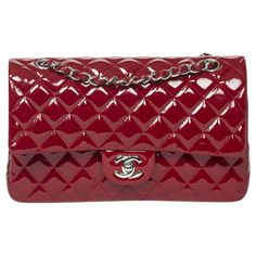 CHANEL Timeless patent leather handbag