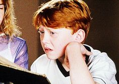 I watch the earlier movies solely for Rupert's facial expressions. They are gold.