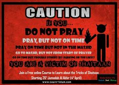 TRICKS OF #SHAYTAAN He doesnt just call for sins he steals from the Good deeds that one is doing. Shaytaan doesnt call one directly and openly to a Major sin... He builds up ways and means for one to eventually commit that sin.   STARTING TODAY ... Learn about The Tricks of Shayaateen in The PROTECTOR & THE CLEAR ENEMY - Free course to Learn about Allah and those who turn us away from Him on LEARN ISLAM