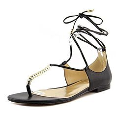 Marc Fisher Extra3 Women Open Toe Synthetic Sandals Black Size 60 ** Want additional info? Click on the image. (This is an affiliate link) #WomensFlatsSandals