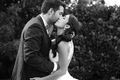 Couple mariés photo en noir et blanc