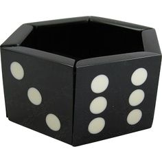 French Designed Black & White Domino Or Dice Stretch Resin Bracelet