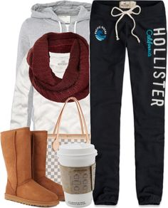 Maybe not hollister pants.... Replace with PINK pants and you got urself a cozy outfit!