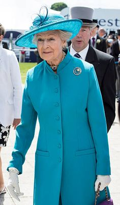 Princess Alexandra arrives on Derby Day at Epsom Racecourse on June 2015 in Epsom, England. (Photo by Mark Cuthbert/UK Press via Getty Images) English Royal Family, British Royal Families, Princess Caroline, Princess Mary, Queen Elizabeth Ii Birthday, Princess Alexandra Of Denmark, Prince Michael Of Kent, Royal Uk, England