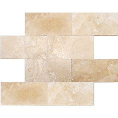 Ivory Travertine 3 in. x 6 in. Honed & Filled Travertine Floor & Wall Tile-( (1 Sq. Ft./Case)
