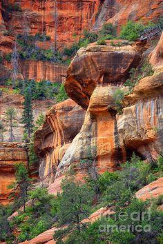Arizona Art - Sedona Stripes by Carol Groenen Arizona Travel, Sedona Arizona, Nature Scenes, Nature Pictures, Landscape Photos, Amazing Nature, Beautiful Landscapes, Places To See, Nature Photography
