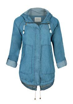ASHLEY Hooded Denim Jacket