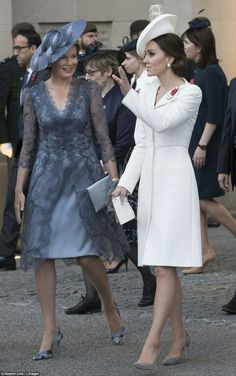 The Duchess of Cambridge and Queen Mathilde were talking animatedly as they left the Last Post ceremony July Prince William And Kate, William Kate, Duke And Duchess, Duchess Of Cambridge, Royal Blue Suit, Alexander Mcqueen, Herzogin Von Cambridge, Style Royal, 70s Fashion