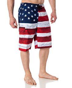 Mens USA Flag Microfiber Hybrid Board Shorts Red M Alki'i http://www.amazon.com/dp/B00XCO30RQ/ref=cm_sw_r_pi_dp_1mo1wb04KT07B