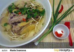 Polévka z vepřových žebírek po vietnamsku recept - TopRecepty.cz.......... https://www.toprecepty.cz/recept/52107-polevka-z-veprovych-zebirek-po-vietnamsku
