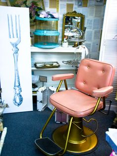 would love to have a vintage beauty shop chair one day for my beauty bar I have already started building.