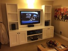 Diy Entertainment Center, Entertaining, Building, Projects, Furniture, Home Decor, Log Projects, Homemade Home Decor, Buildings