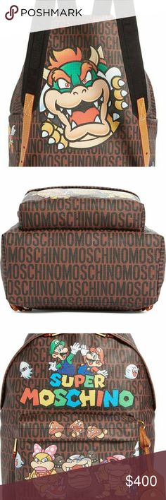 Super Moschino Backpack Super Moschino Backpack Moschino Bags Backpacks
