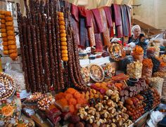 Dried fruit stand in Yerevan Market