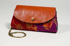 Fair Trade Wholesale - Jogi Clutch with Gold Chain - accessories, assorted, clutches, handmade, india, jogi - Handmade Expressions