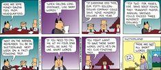 Dilbert Classics by Scott Adams for Mon 22 Mar 2021 #Dilbert #Comics Dilbert Comics, Scott Adams, Comic Strips, Saving Money, Cartoons, March, Lol, Words, Classic