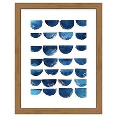Framed Scallops Blue 11