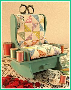 Chair Pincushion redone...I remember seeing these many years ago.