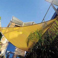 Freeport Park Solon 10' Triangle Shade Sail | Wayfair Garage Pergola, Pergola Swing, Metal Pergola, Wooden Pergola, Pergola Shade, Pergola Plans, Pergola Kits, Pergola Ideas, Outdoor Awnings
