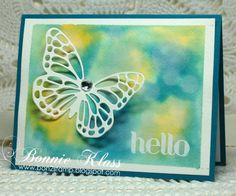 Watercolor Bokeh with Butterfly by bon2stamp - Cards and Paper Crafts at Splitcoaststampers