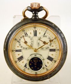 Reloj lepine ASTRONOMICO Privilegiado c.1880  Never been a super fan of pocket watches but this is sweet.
