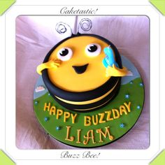 Buzz bee cake from The Hive!  https://www.facebook.com/pages/Caketastic/163765000425745?ref=hl