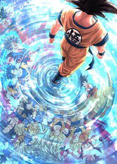 Happy Goku Day FanArt By: Mattari_illust Dragon Ball Gt, Dragon Ball Image, Dragon Age, Wallpaper Do Goku, Dragon Ball Z Iphone Wallpaper, Dragonball Wallpaper, Wallpaper Art, Dbz Wallpapers, Cool Anime Wallpapers