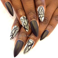 Abstract With Matte Black