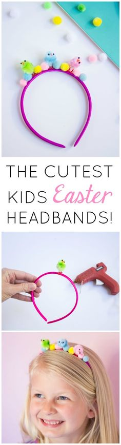 Easter Kids Craft: Baby Chick Headbands! These would be the cutest accessories for an Easter party or egg hunt!