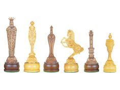 Renaissance Themed Wooden Chess Pieces American Cherry / Boxwood  ---These are beautiful chess pieces.
