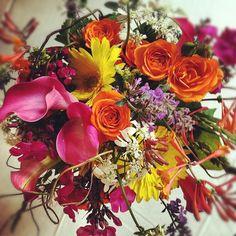 Wildflower-themed bridal bouquet.  Petal & Bean