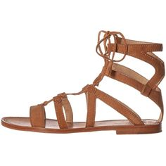 Frye Ruth Gladiator Short Sandal (Sand Suede) Women's Sandals (£185) ❤ liked on Polyvore featuring shoes, sandals, low heel sandals, suede sandals, strap sandals, short gladiator sandals and strappy gladiator sandals