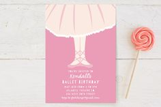Ballet Toes Children's Birthday Party Invitations Party Invitations Kids, Your Cards, Special Day, Birthday Parties, Create, Birthday Celebrations, Anniversary Parties, Birthdays