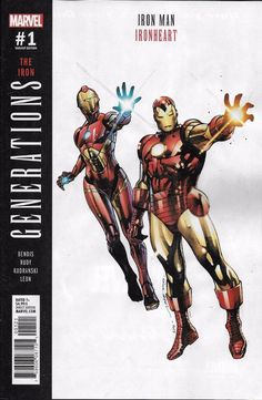 Generations Iron Man & Ironheart Print Variant Marvel Comics 2017 for sale online Marvel Comic Universe, Comics Universe, Marvel Dc, Batman Universe, Marvel Comic Character, Marvel Characters, Comic Movies, Comic Books Art, Book Art