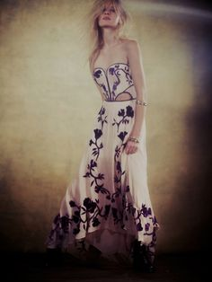 New Free People Gianna's Limited Edition Dress Pink Floral Prom Cocktail Small 6 #FreePeople #Cocktail