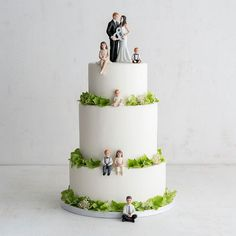 Blended family? Make sure to include them in your wedding. Children, baby, toddler figurines - #wedding cake toppers - so sweet!!