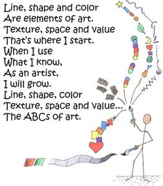 Elements poem-I am doing the elements with my grade 3/4's at the moment. Only trouble is there is no mention of Form in the poem. Will use it anyway - very cool.