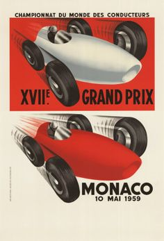 Grand Prix & Monaco, Back in The Day. #travel #vintage #posters