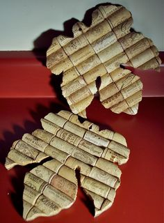Floral Grape Leaf Wine Cork Trivet Set of 2 by anglenn19 on Etsy, $14.00