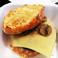 Malasada burger from Hawaii?~?~? ABSOLUTE MUST!