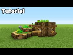 Minecraft Tutorial: How To Make A Starter Eco Survival House In this tutorial i show you how to make a starter eco survival house which also has elements of . Minecraft Starter House, Minecraft Building Guide, Minecraft Garden, Easy Minecraft Houses, Minecraft Plans, Amazing Minecraft, Minecraft Decorations, Minecraft House Designs, Minecraft Survival