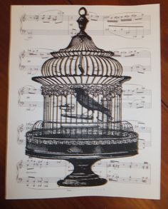 Digital print on vintage sheet music...several other designs available and SUPER affordable!