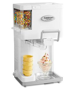 Cuisinart Cuisinart Ice Cream Maker, Soft Serve Mix-it-In.Customize your cone with this ingenious soft serve ice cream maker that automatically adds up to three of your favourite mix-ins. Small Kitchen Appliances, Kitchen Gadgets, Kitchen Electronics, Cooking Gadgets, Cooking Tools, Kitchen Utensils, Like Chocolate, Ice Cream Maker, Home Theaters
