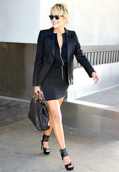 Sharon Stone proved she still has the ability to turn heads as she arrived at LAX on Monday, April 13.