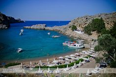 St Paul's Bay, Lindos, Rhodes Island, Greece