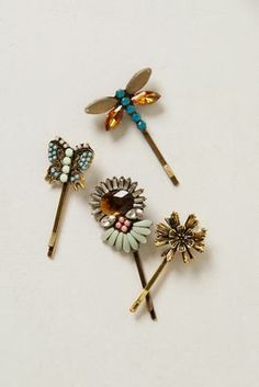 Anthropologie Sparkling Hair Clip Set